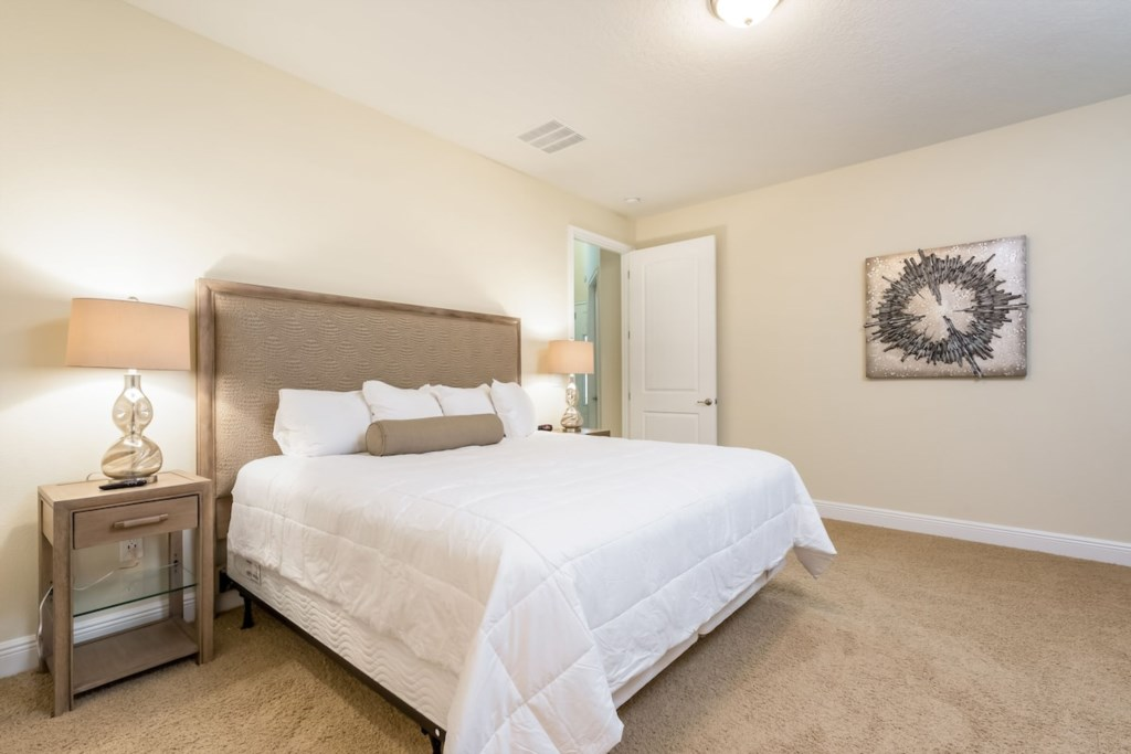1st Floor King Master On Suite, King Bed, Full Large Bath.