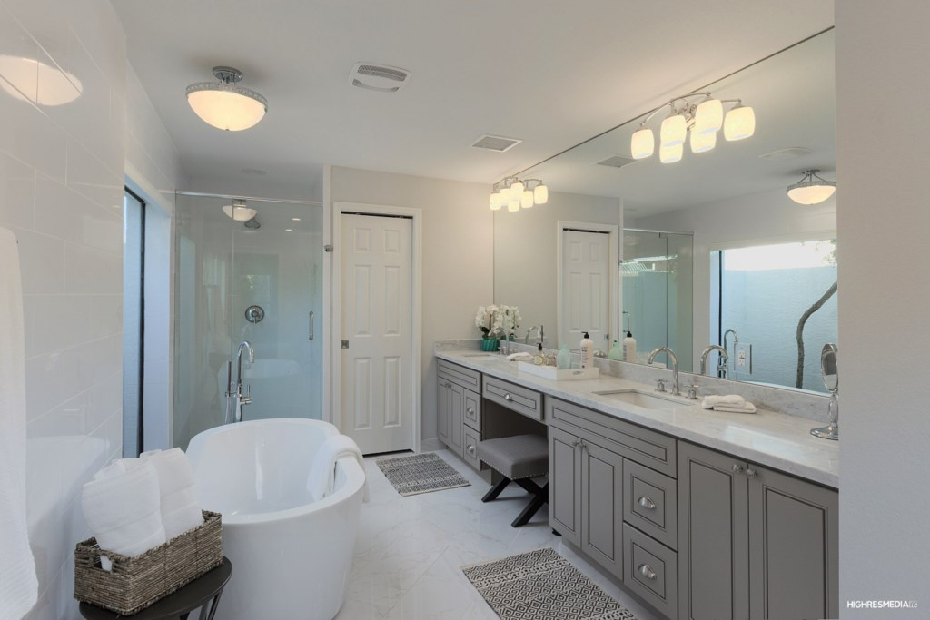 Spa like master bath is perfect for relaxing !