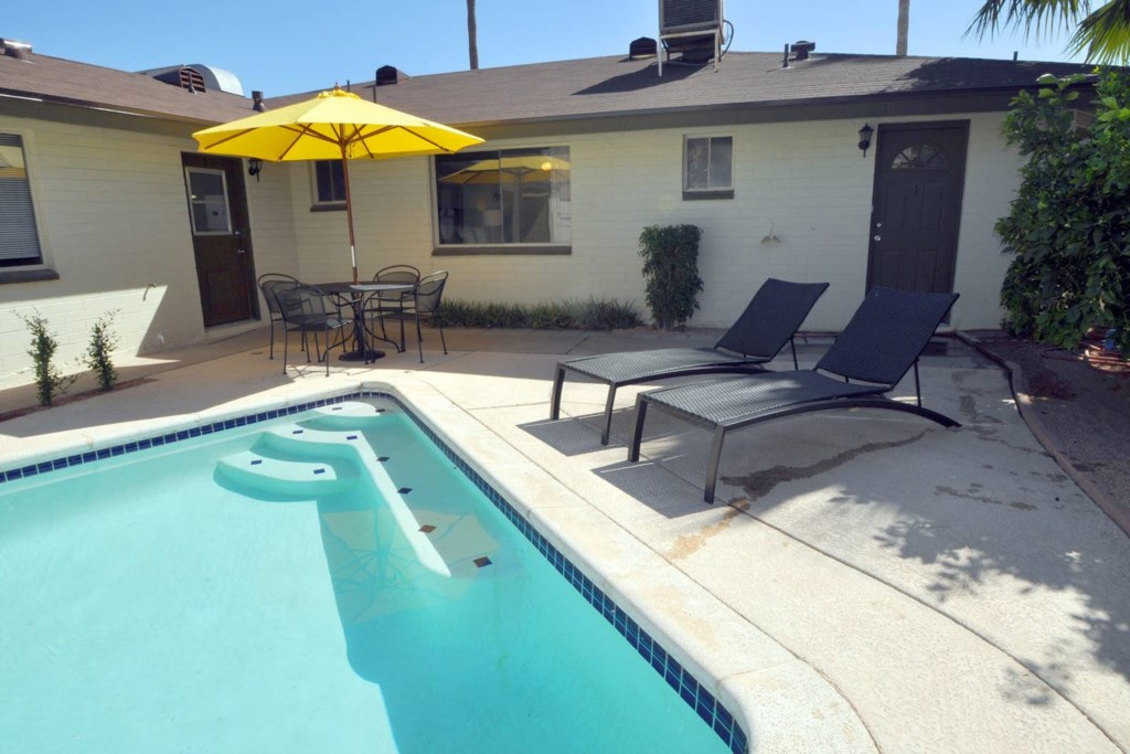 Large semi-private pool available for your stay!