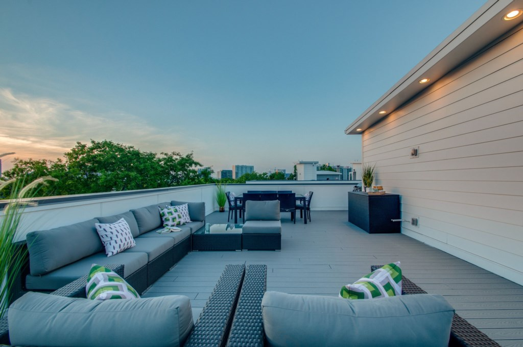 Relax and enjoy Music City sunsets from your private rooftop.