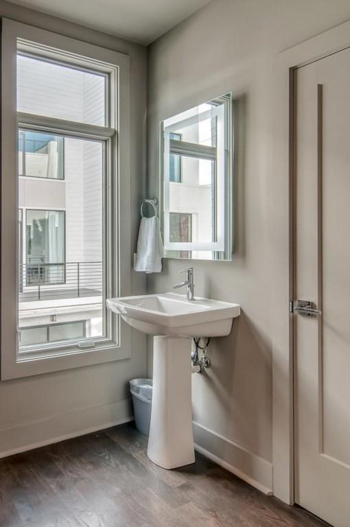 Hallway half bathroom