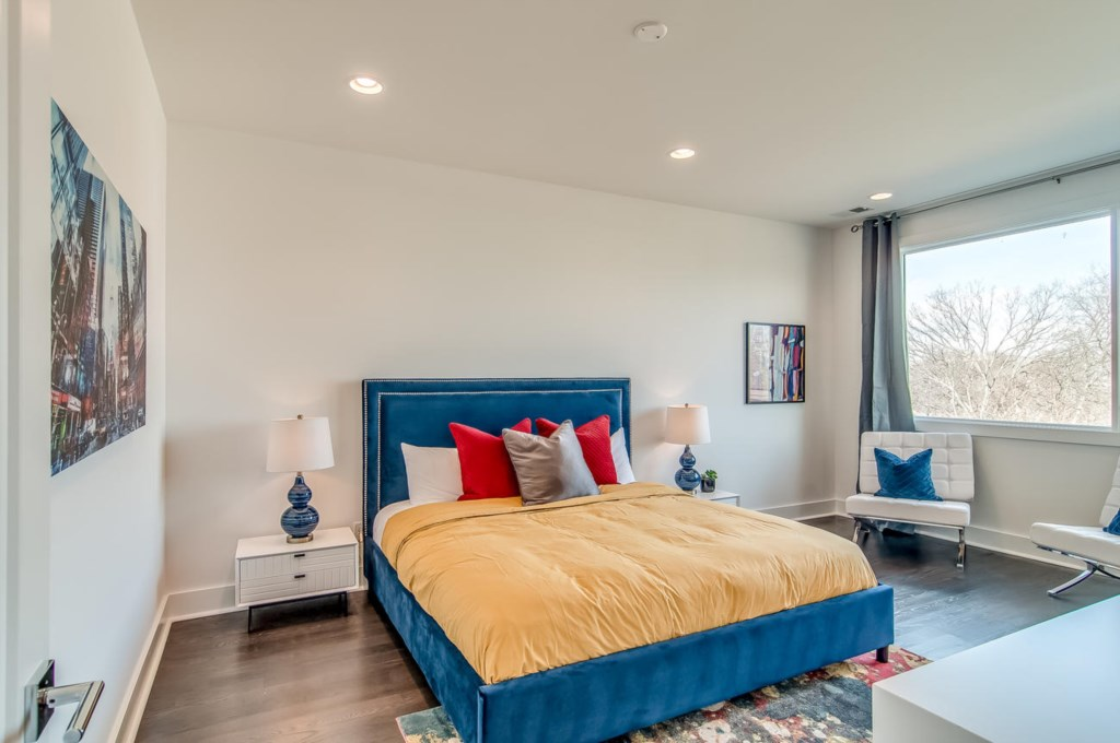Resort Master Bedroom with King Bed, luxury furniture, and incredible views!