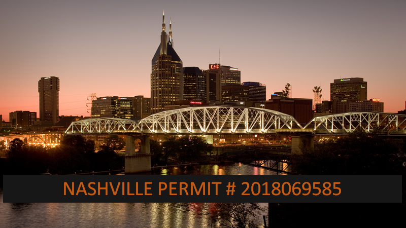 Nashville Permit Issued 2018 followed by 069585. Courtesy of Nashville Convention & Visitors Corp.