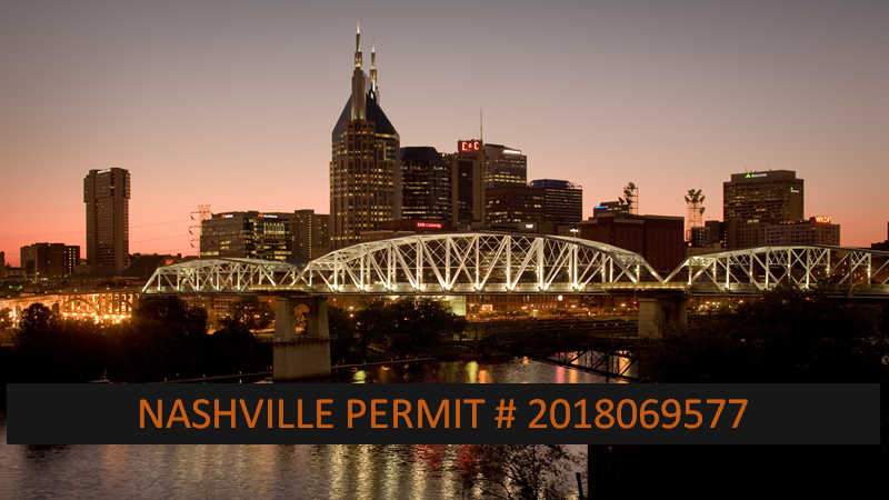 Nashville Permit Issued 2018 followed by 069577.