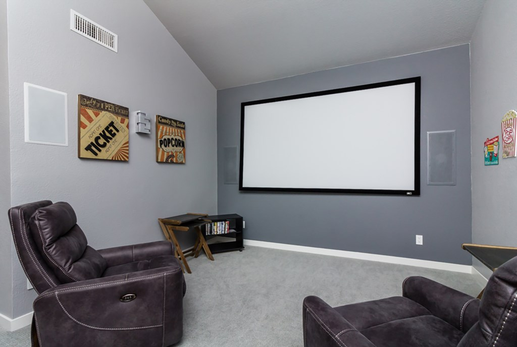 Exclusive home theatre room (upper level)