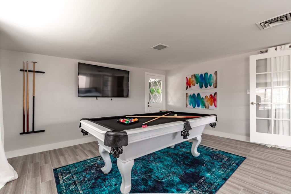 Pool table for entertainment