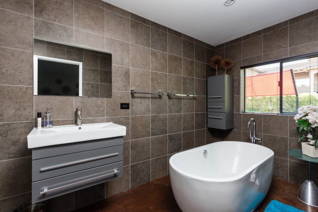 3rd Bathroom (connected to 4th Bedroom) with standalone tub