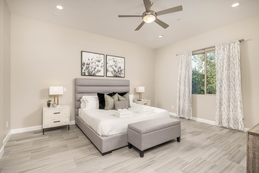 Master Bedroom with King size bed and large flat screen TV