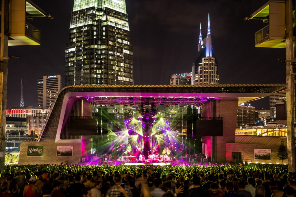 Ascend Amphitheater. 5 mins away! Courtesy of Nashville Convention & Visitors Corp.