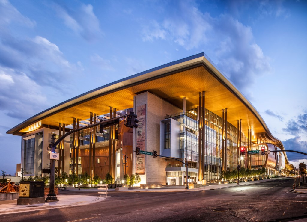 Music City Center. 5 mins away! Courtesy of Nashville Convention & Visitors Corp.