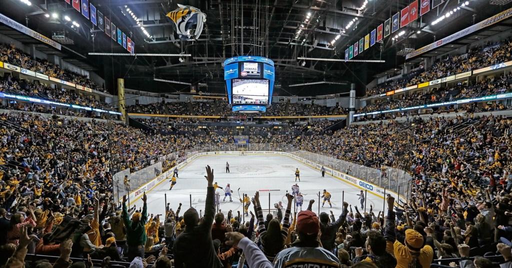 Bridgestone Arena. 5 mins away! Courtesy of Nashville Convention & Visitors Corp.