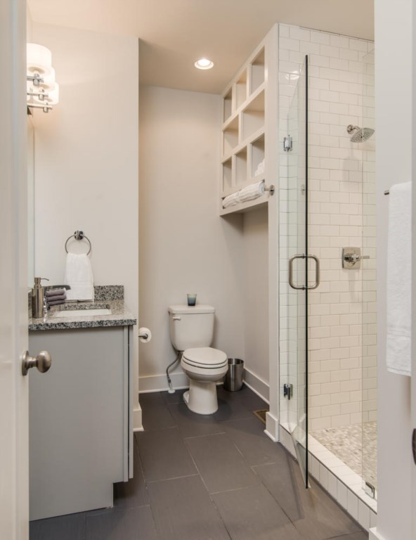 Freshen up in the 3rd bath with a granite vanity and walk-in shower.