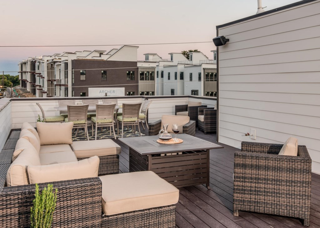Stay in for the night and enjoy the views from your private rooftop deck.