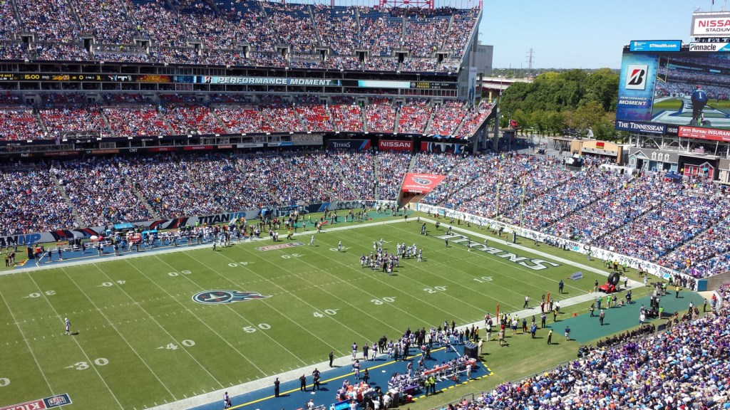 Nissan Stadium. 7 mins away! Courtesy of Nashville Convention & Visitors Corp.