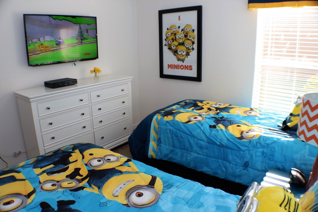 Twin Bedroom 1 with TV