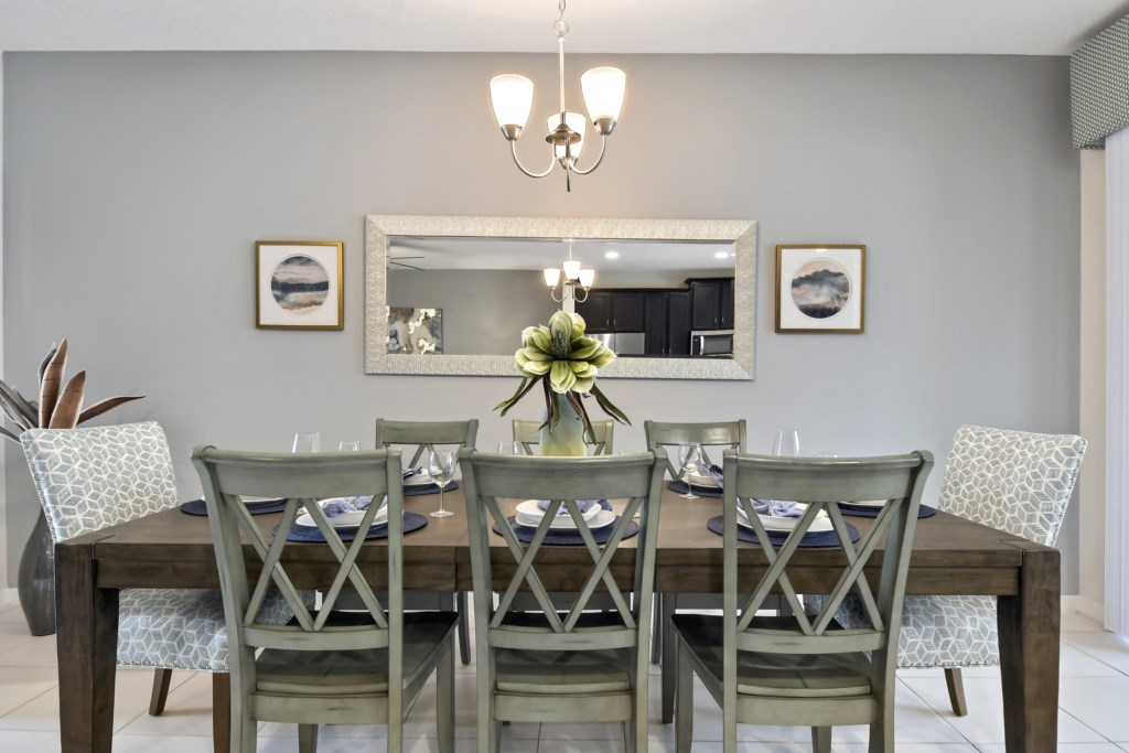 Dining room, we also have a highchair for your little one!