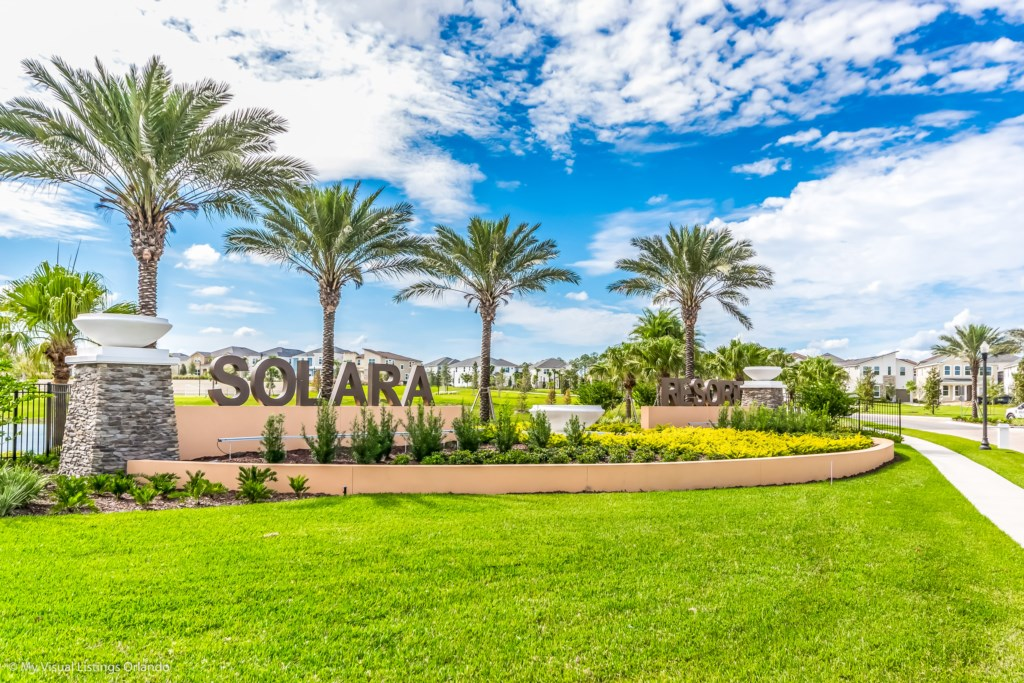 Solara Resort Entrance with 24 hour security