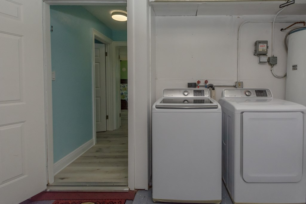 Two Laundry Areas