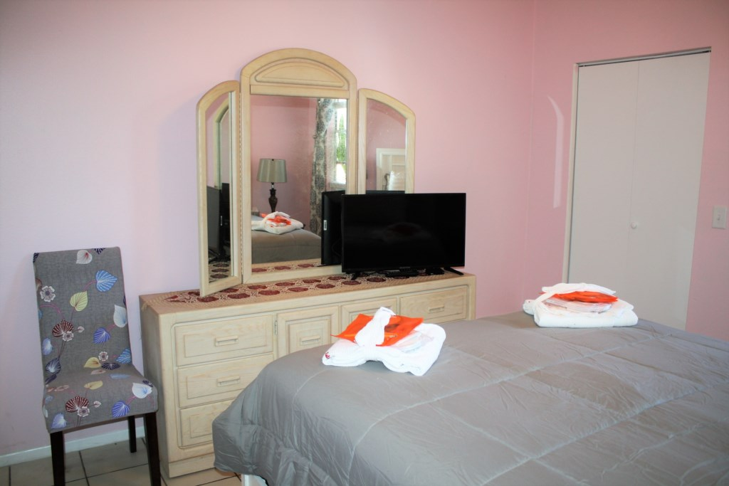 42 in. flat screen t.v. and plenty of dresser space in the Master bedroom.