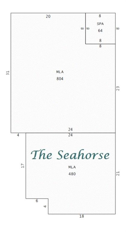 The Seahorse may be 480 sq. ft but feels much more spacious.