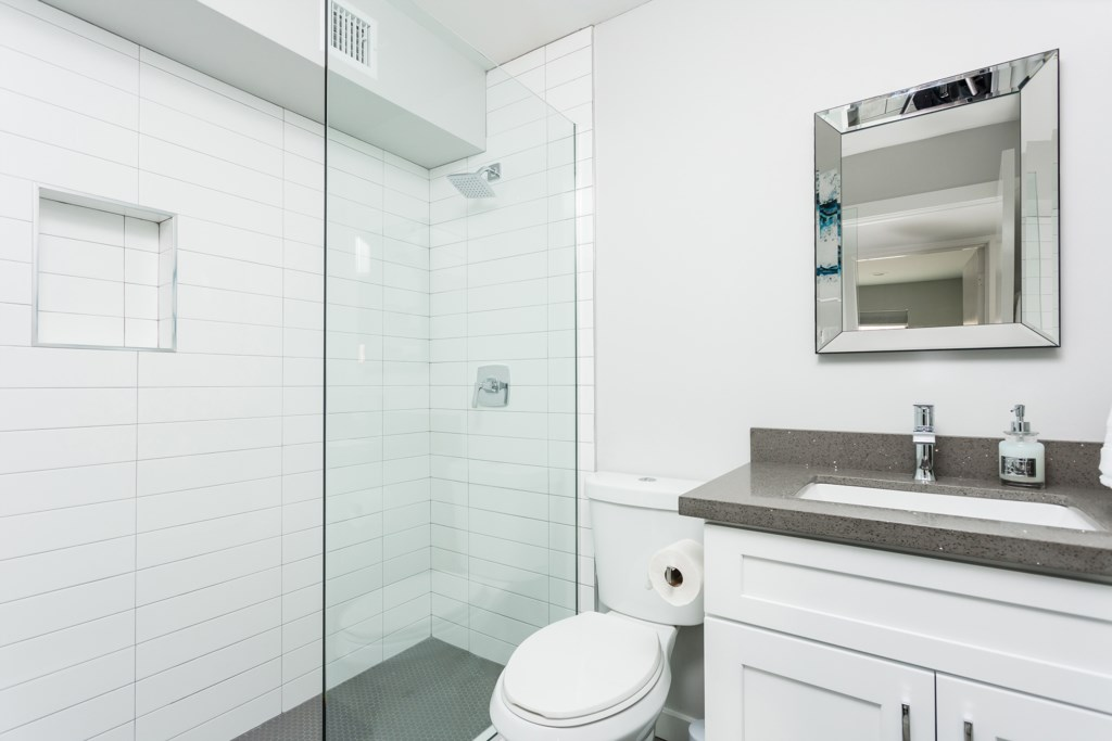 2nd Bathroom with huge walk in shower