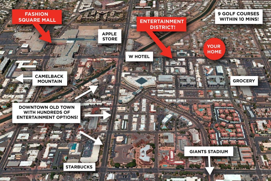 Walking distance to hundreds of Scottsdale entertainment options!