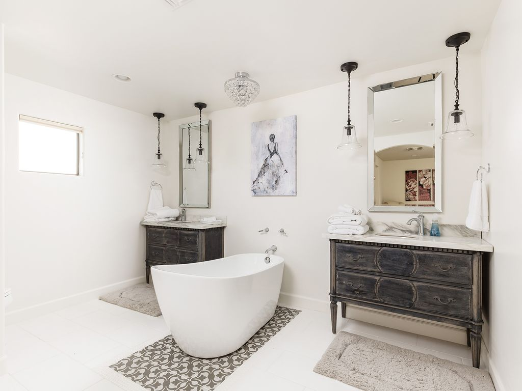 3rd Bathroom with stand alone tub