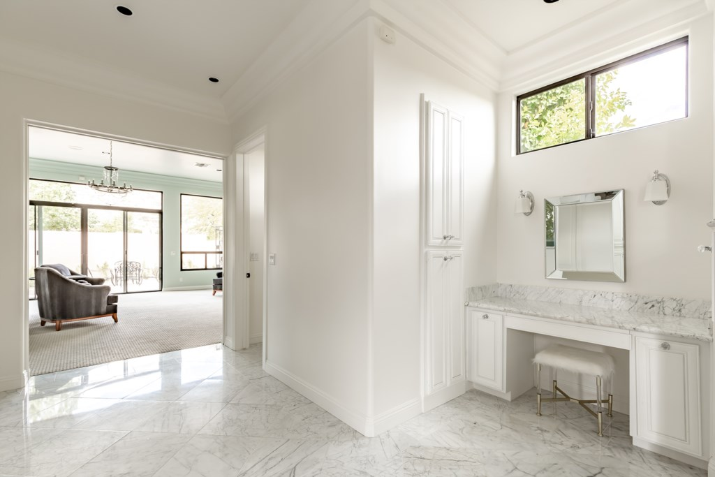 Master bathroom with powder room