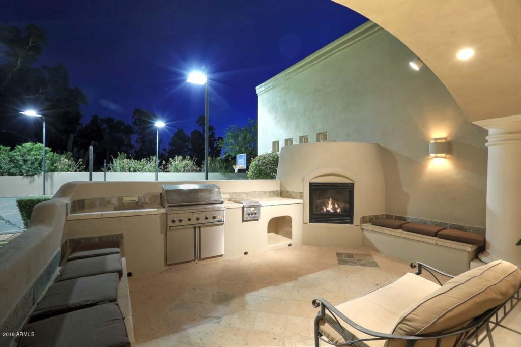 Outdoor grill and fire place for you to enjoy