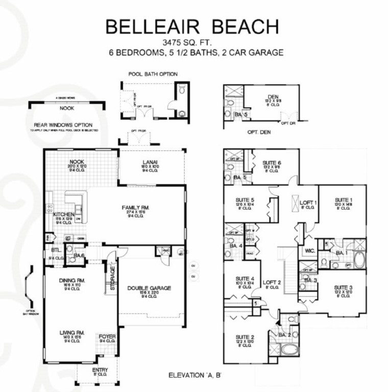 Bellair-Beach-model-floorplans