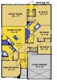 Glenbrook - Pembrook Floor Plan (1616 Morning Star Drive) - Colored.jpg