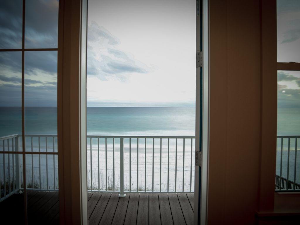 View Of The Beach From Dining Room