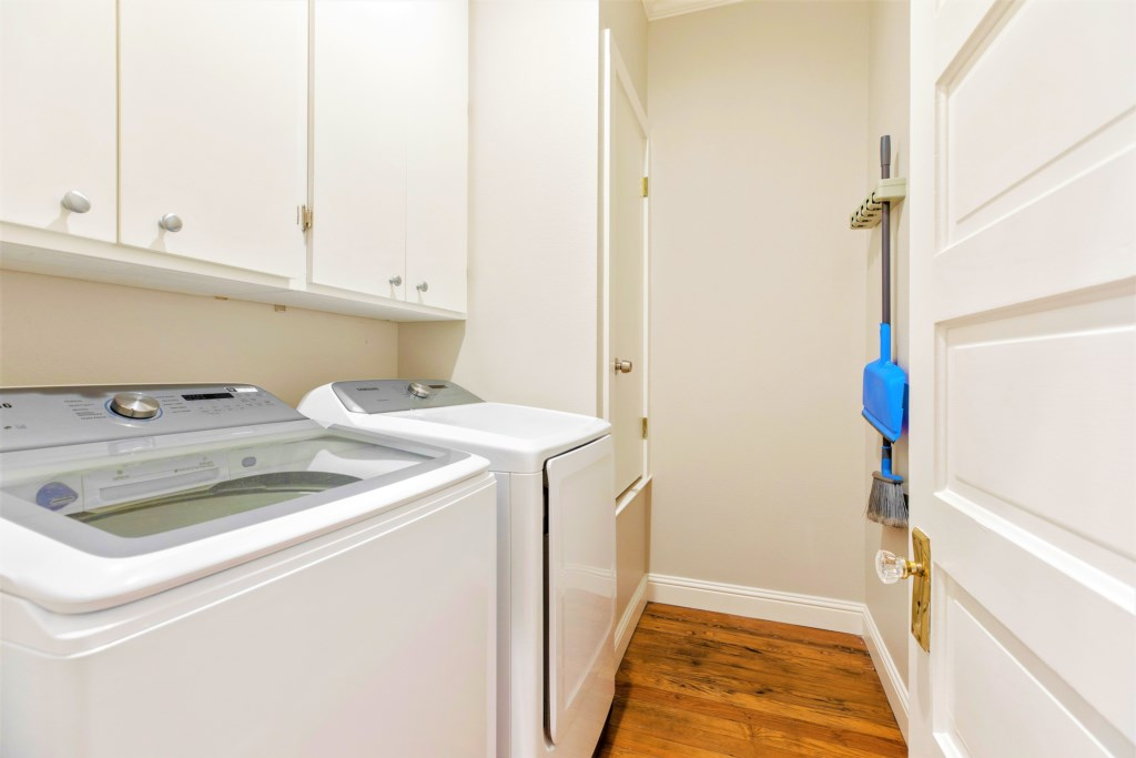 Washer and Dryer available for use during your stay