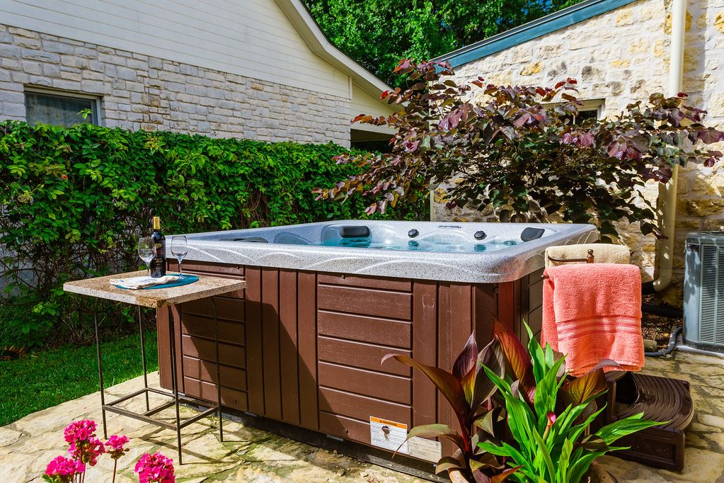 Our two hot tubs provide will enhance your experience in Fredericksburg!
