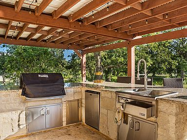 A grill area is perfect for a family or friends getaway!