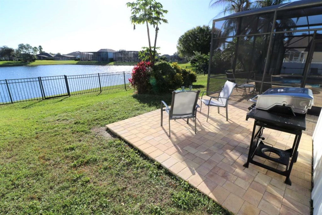 View 2 of outstanding patio furniture with lake view