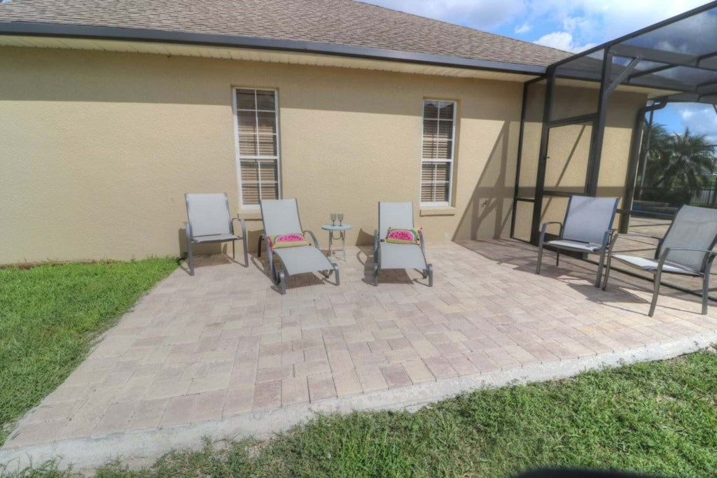 View 3 of outstanding patio furniture with lake view