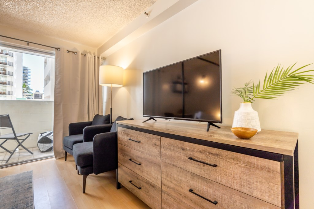 Elegant and Modern with a Smart TV and New Furniture