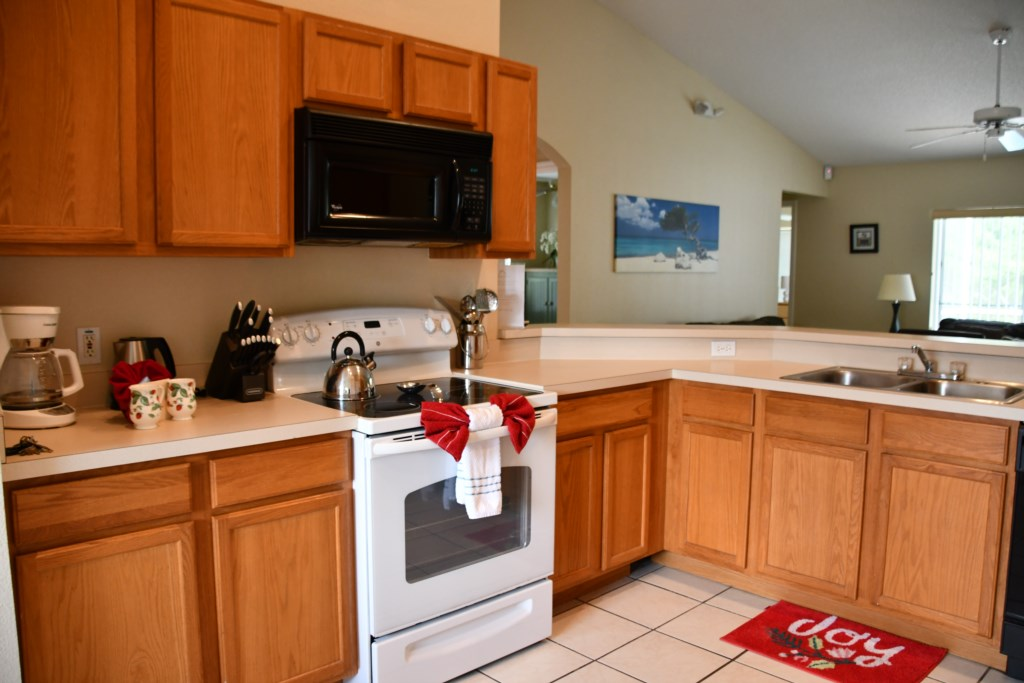 We offer a fully equipped Kitchen making dinner at home an easy option