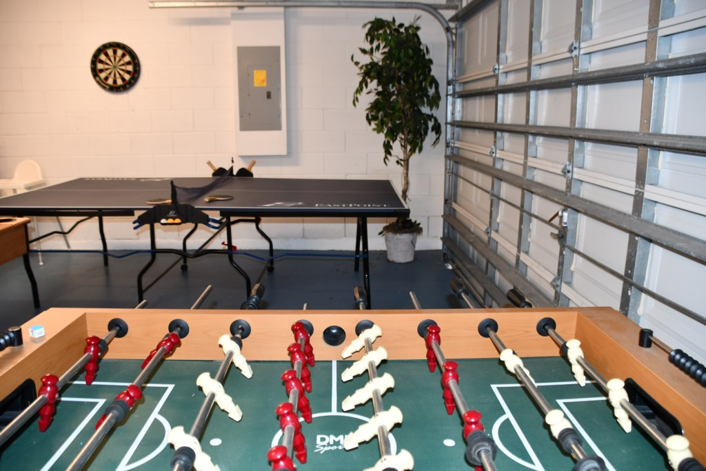 Show your competitive side in the Game rooms with Football Table, Pool and table tennis