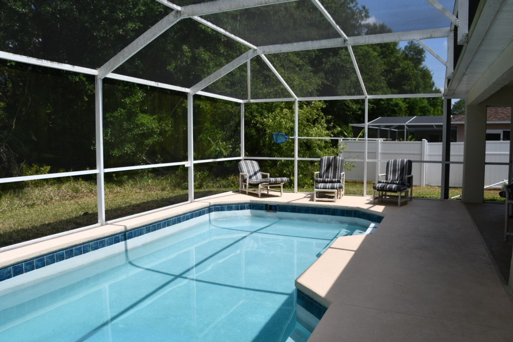 Enjoy your Private Pool oasis enjoying privacy and seclusion