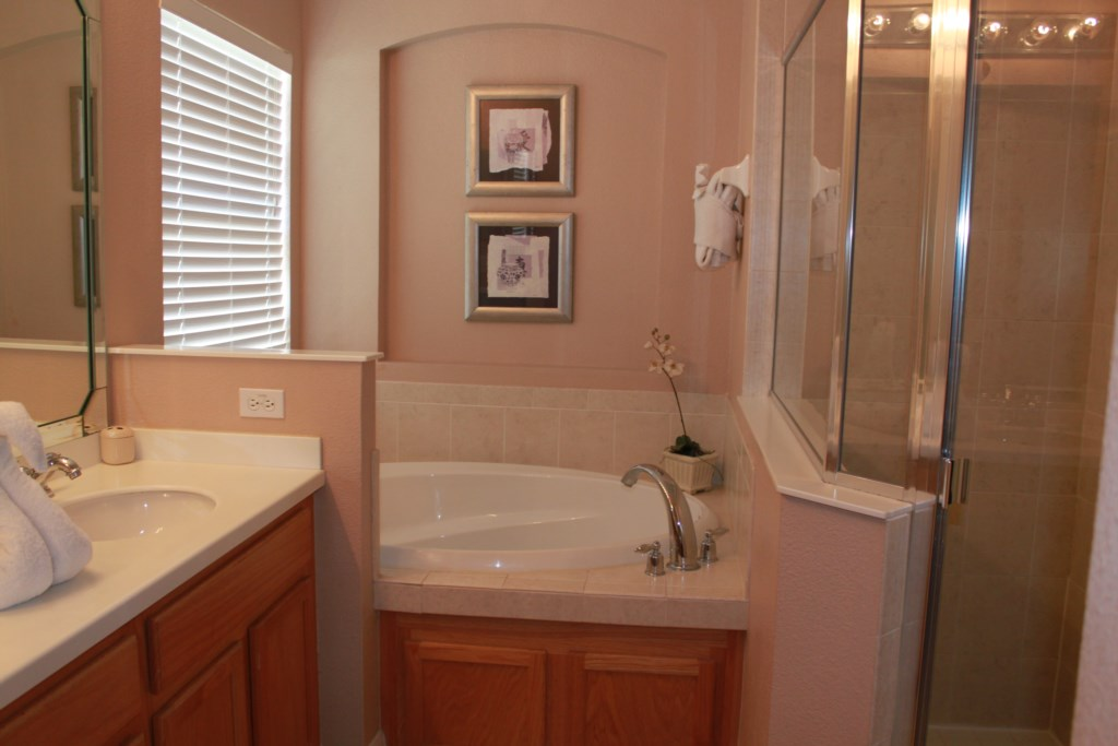 Master Private Bathroom with large soaking tub