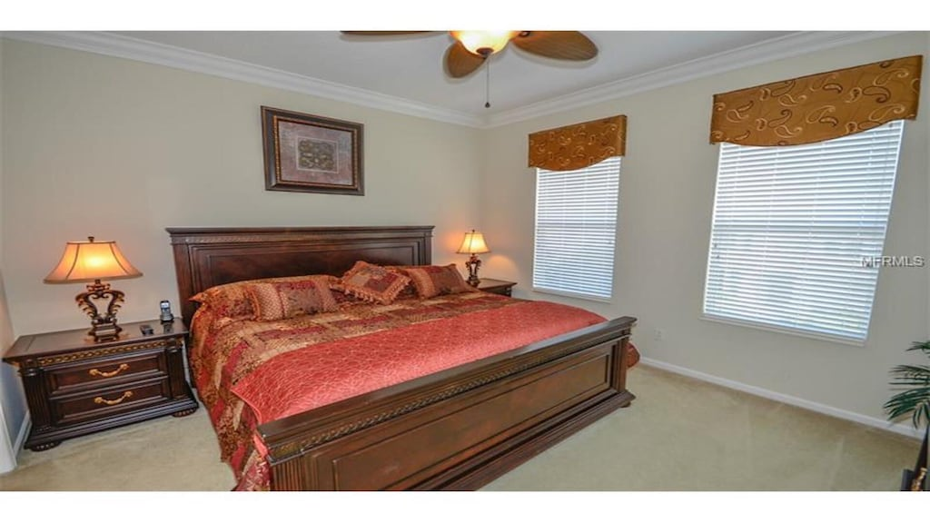 Master bedroom with king bed. Ensuite bathroom & furnished balcony.