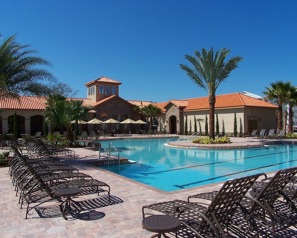 Heated resort pool with loungers and free cabanas. OUR RESORT POOL IS OPEN!!