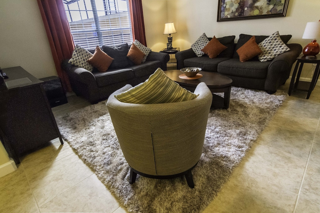 Family room with flat screen TV, DVD player with over 50 DVD's for you to enjoy.