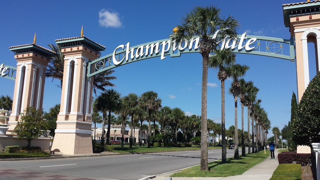 Champions Gate Entrance just off of I-4. The condo road is just before this gate