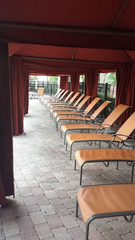 Covered seating (free - no charge for cabanas).
