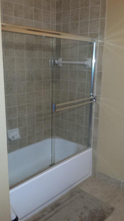 Tub in main bath.