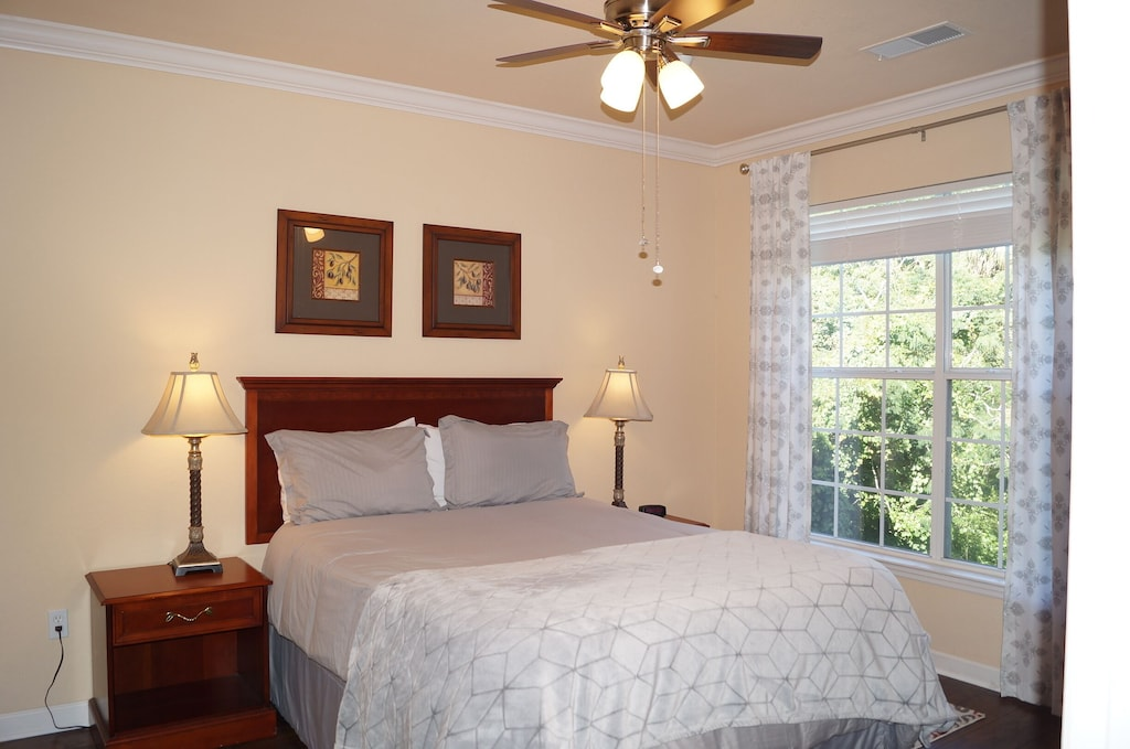 Bedroom 2 with private access to bathroom and walk in closet