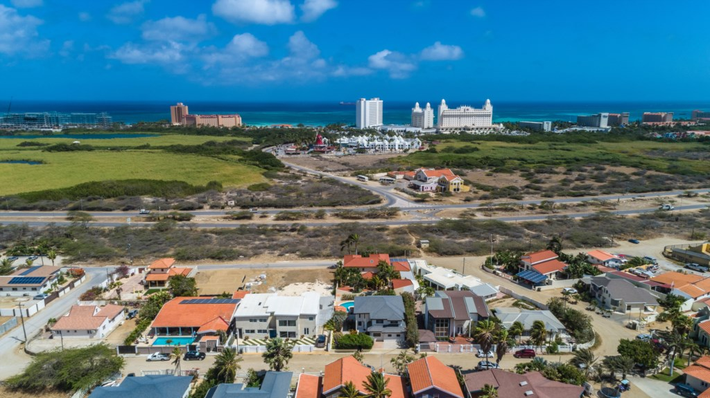 Stunning views over Palm Beach Aruba